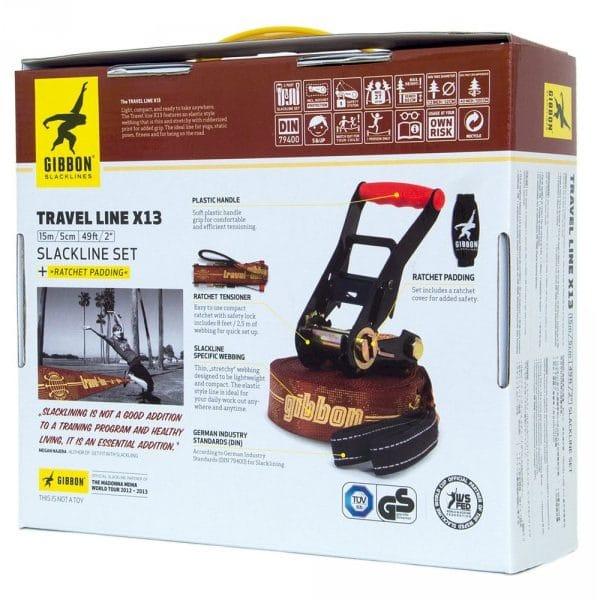 Image du packaging de dos du produit gibbon travel line x13